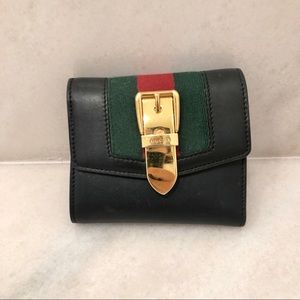 Gucci Tri-fold leather wallet
